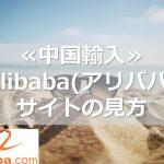 ≪中国輸入≫Alibaba(アリババ)  サイトの見方
