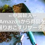 ≪中国輸入≫Amazonから商品を掘りおこすリサーチ法